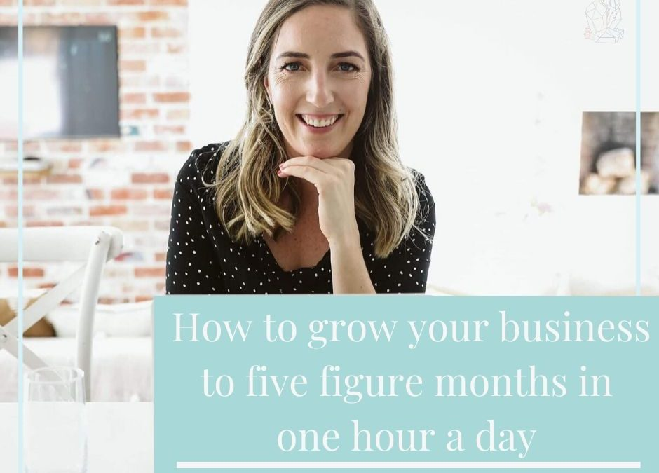 How to grow your business to five figure months in an hour a day